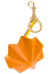 Anya Hindmarch Trigger Circus Keychain Women Leather Metal One Size Yellow Orange