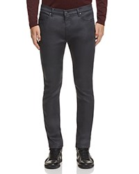 Hugo Coated Denim Slim Fit Jeans In Grey