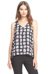 Kate Spade 'Abstract Sweets' Sleeveless Top Black
