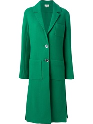 Isa Arfen Patch Pocket Coat Green