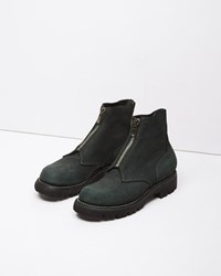 Guidi Front Zip Boot Green