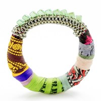 The Studioelle Colorpatch Squarelette Bangle Green Glow