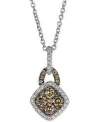 Le Vian Chocolatier White And Chocolate Diamond Pendant Necklace 3 8 Ct. T.W. In 14K White Gold