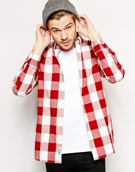 Jack Wills Shirt With Oversized Gingham Check Red