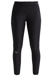 Under Armour Tights Black Black Metallic Silver