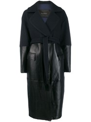 Blancha Panelled Trench Coat Blue