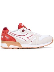 Diadora Lace Up Sneakers Men Leather Suede Nylon Rubber 9.5 White