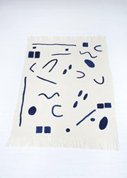 Minna Abstract Throw Indigo