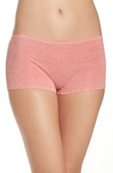 Nordstrom Women's Lingerie Seamless Boyshorts Pink Blossom Heather