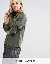 Miss Selfridge Petite Military Jacket Khaki Green