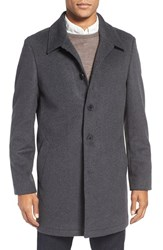 Nordstrom Men's Men's Shop Wool Blend Car Coat Mid Charcoal