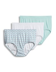 Jockey Elance Collection 3 Pack Pointelle Cotton Panties Teal