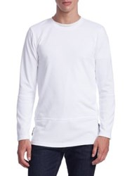 Madison Supply Gallery Side Zip Sweater Gallery White
