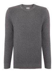 Peter Werth Stage Chunky Crew Neck Jumper Grey