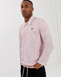 Lyle And Scott Light Weight Logo Coach Jacket In Pink