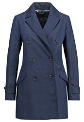 Banana Republic Trenchcoat Dark Denim Blue Denim