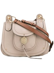 See By Chloe Saddle Shoulder Bag Women Calf Leather One Size Nude Neutrals