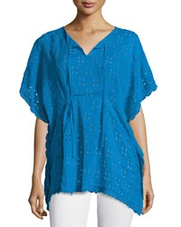 Johnny Was Eyelet Short Sleeve Poncho
