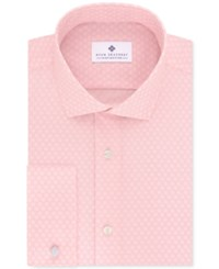 Ryan Seacrest Distinction Men's Evening Collection Slim Fit Non Iron French Cuff Cotton Dress Shirts Only At Macy's Pink Petal Print