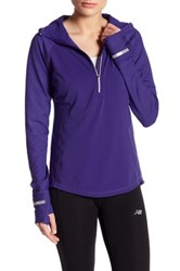 New Balance Heat Half Zip Hoodie Purple