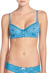 Skarlett Blue Women's 'Minx' Unlined Lace Demi Underwire Bra Tourmaline Rose Water