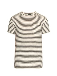 Steven Alan Classic Pocket Striped Cotton T Shirt