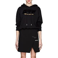 Off White C O Virgil Abloh Modern Obstacles Cotton Terry Hoodie Black
