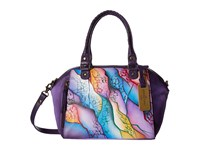 Anuschka Handbags 561 Mini Convertible Satchel Cosmic Quest Tote Handbags Purple