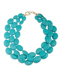 Ralph Lauren Multi Strand Beaded Statement Necklace 18 Turquoise