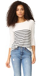 Sundry Stripes Long Sleeve Tee Natural