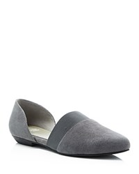 Eileen Fisher Flute Pointed Toe D'orsay Flats Graphite