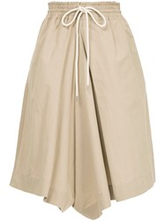 Bassike Loose Fit Culottes Brown