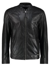 Mustang Lucas Leather Jacket Black