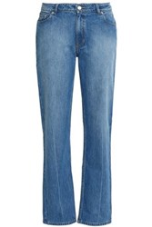 Opening Ceremony Faded Mid Rise Straight Leg Jeans Light Denim