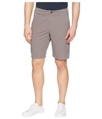 True Grit Heritage Chino Shorts Hand Treated Washed With Stitch Detail Vintage Charcoal Black