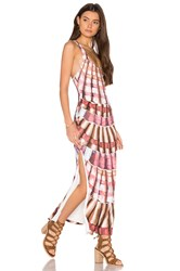 Mara Hoffman Racer Back Maxi Dress Brown