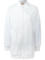 No21 Mesh Zipped Sport Jacket White