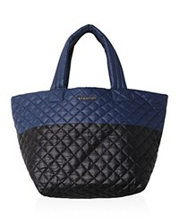 M Z Wallace Mz Wallace Small Metro Color Block Quilted Tote Black Blue