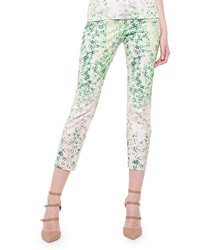 Akris Clover Print Slim Fit Capri Pants