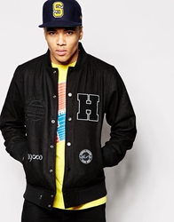 The Hundreds Varsity Jacket Black