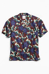 Katin Jungle Short Sleeve Button Down Shirt Maroon