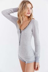 Out From Under Cozy Romper Grey