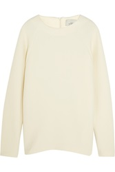Studio Nicholson Oak Stretch Wool Blend Crepe Sweater White