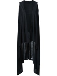 The Row Draped V Neck Tunic Black