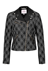 Juicy Couture Embroidered Moto Jacket