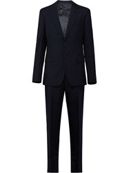 Prada Single Breasted Two Piece Suit Blue