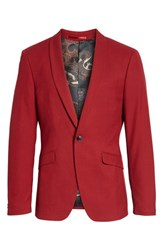 Topman Skinny Fit Suit Jacket Red