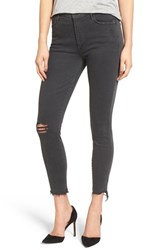 Mother Women's The Stunner Ripped Step Hem Skinny Jeans