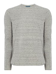 Scotch And Soda Men's Classic Long Sleeve Crew Neck Tee Charcoal Marl