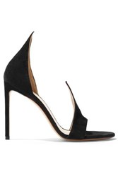 Francesco Russo Suede Sandals Black